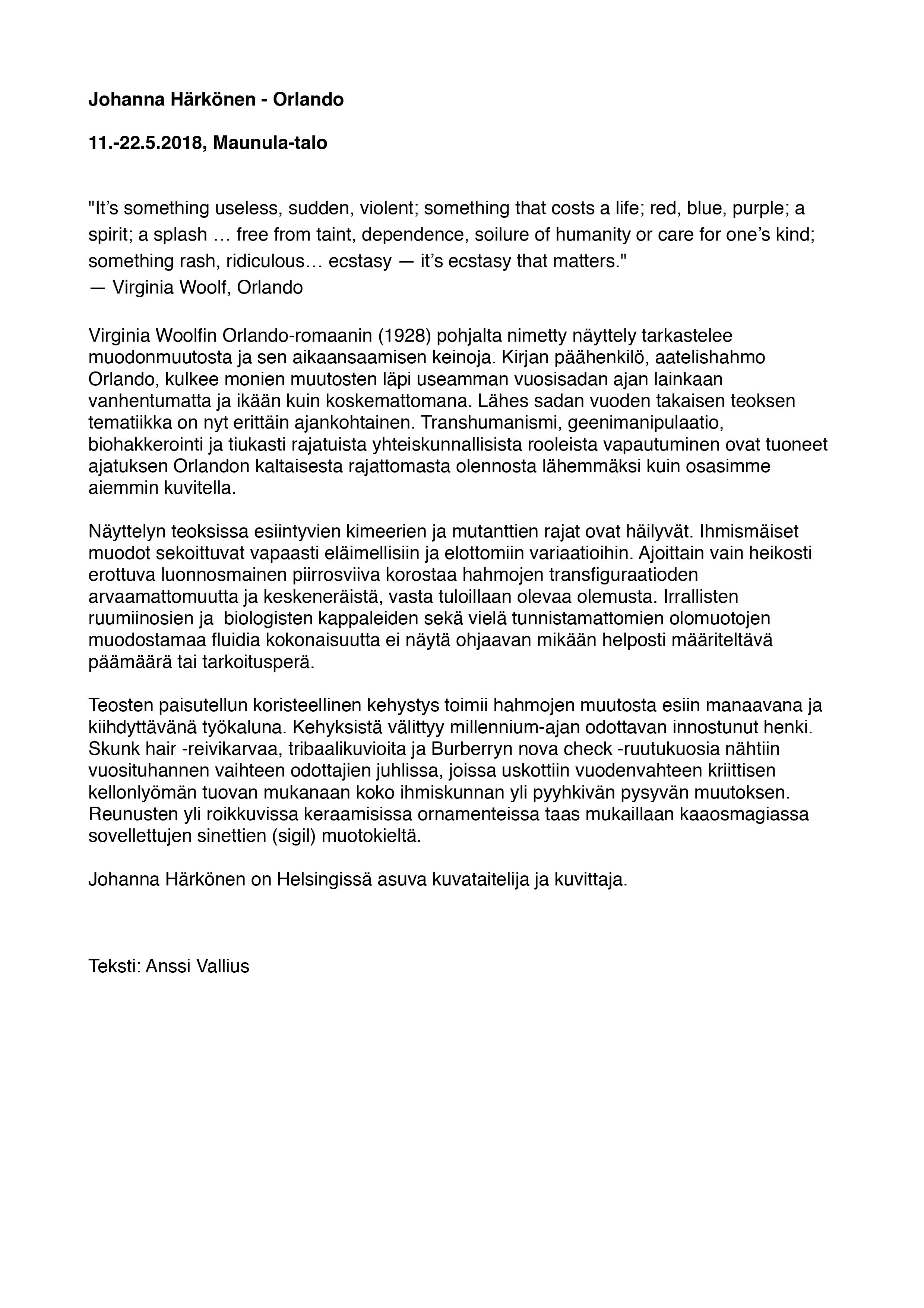 Johanna Härkönen_Orlando